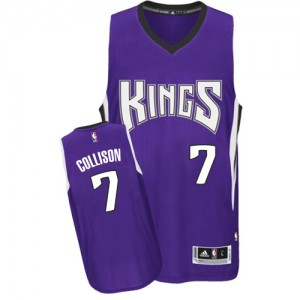 Camiseta NBA Road Sacramento Kings Púrpura Authentic - Hombre - #7 Darren Collison