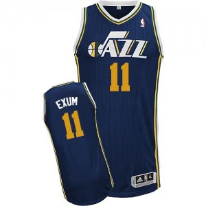 Camiseta NBA Utah Jazz Dante Exum #11 Road Adidas Azul marino Authentic - Hombre