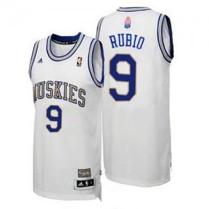 Camisetas Baloncesto Hombre NBA Minnesota Timberwolves ABA Hardwood Classic Swingman Ricky Rubio #9 Blanco
