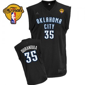 Camiseta NBA Oklahoma City Thunder Kevin Durant #35 Durantula Fashion Finals Patch Adidas Negro Swingman - Hombre