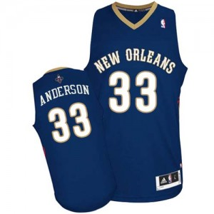 Camiseta NBA Authentic Ryan Anderson #33 Road Azul marino - New Orleans Pelicans - Hombre