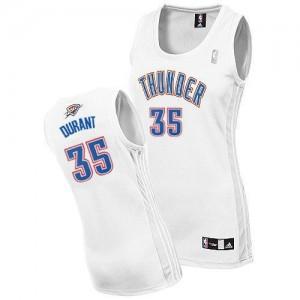 Oklahoma City Thunder Adidas Home Blanco Authentic Camiseta de la NBA - Kevin Durant #35 - Mujer