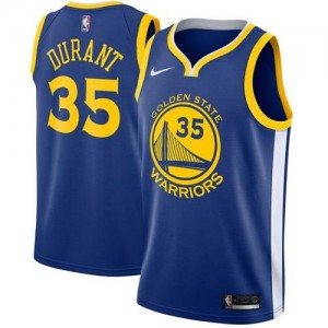 Camiseta Swingman Kevin Durant #35 Azul - Golden State Warriors - Niño