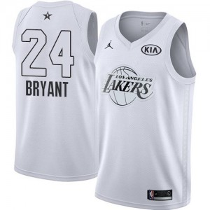 Los Angeles Lakers Jordan 2018 All-Star Game Blanco Swingman Camiseta de la NBA - Kobe Bryant #24 - Niño