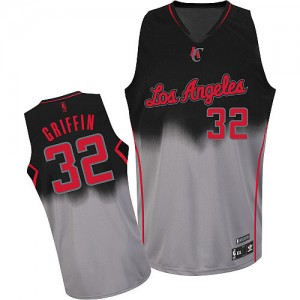 Camisetas Baloncesto Hombre NBA Los Angeles Clippers Fadeaway Fashion Authentic Blake Griffin #32 Gris oscuro