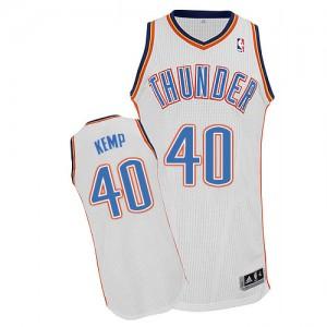 Camiseta NBA Authentic Shawn Kemp #40 Home Blanco - Oklahoma City Thunder - Hombre