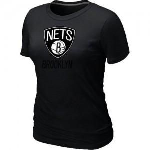 T-Shirts NBA Big & Tall Brooklyn Nets Negro - Mujer