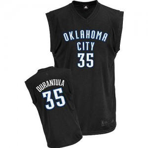 Oklahoma City Thunder Adidas Durantula Fashion Negro Authentic Camiseta de la NBA - Kevin Durant #35 - Hombre