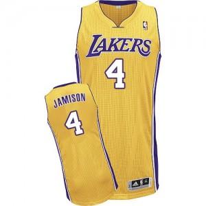 Los Angeles Lakers Adidas Home Oro Authentic Camiseta de la NBA - Byron Scott #4 - Hombre