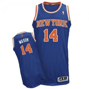Camiseta NBA Authentic Anthony Mason #14 Road Azul real - New York Knicks - Hombre