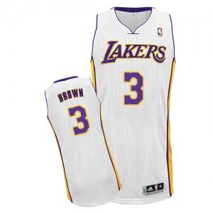 Los Angeles Lakers Adidas Alternate Blanco Authentic Camiseta de la NBA - Anthony Brown #3 - Hombre