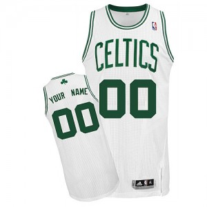 Camiseta NBA Boston Celtics Authentic Personalizadas Home Adidas Blanco - Adolescentes