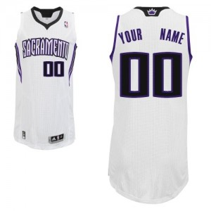 Adolescentes Camiseta Authentic Personalizadas Sacramento Kings Adidas Home Blanco
