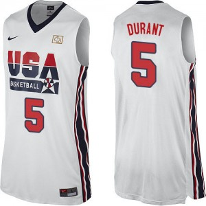 Team USA Nike 2012 Olympic Retro Blanco Swingman Camiseta de la NBA - Kevin Durant #5 - Hombre