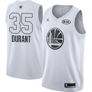 Hombre Camiseta Kevin Durant #35 Golden State Warriors Jordan 2018 All-Star Game Blanco Swingman