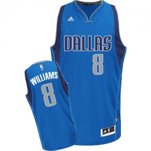 Dallas Mavericks Adidas Road Azul real Swingman Camiseta de la NBA - Deron Williams #8 - Mujer