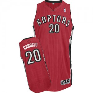 Camiseta Authentic Bruno Caboclo #20 Toronto Raptors Road Rojo - Hombre