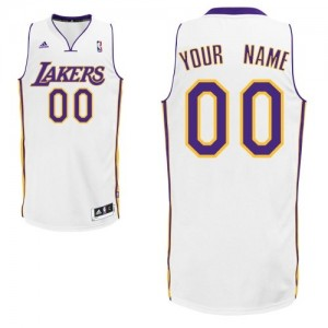 Camisetas Baloncesto Adolescentes NBA Los Angeles Lakers Alternate Swingman Personalizadas Blanco