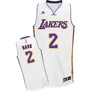 Los Angeles Lakers Adidas Alternate Blanco Swingman Camiseta de la NBA - Brandon Bass #2 - Hombre