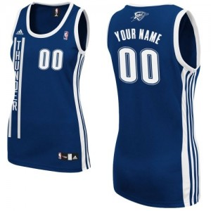 Camiseta NBA Alternate Oklahoma City Thunder Azul marino - Mujer - Personalizadas Swingman