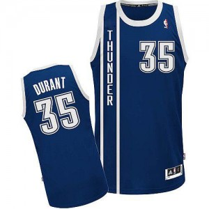 Oklahoma City Thunder Adidas Alternate Azul marino Authentic Camiseta de la NBA - Kevin Durant #35 - Adolescentes