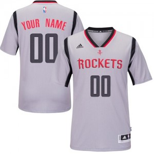Houston Rockets Adidas Alternate Gris Camiseta de la NBA - Authentic Personalizadas - Mujer