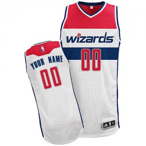 Camiseta NBA Home Washington Wizards Blanco - Hombre - Personalizadas Authentic