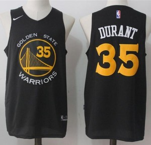 Camiseta Golden State Warriors Kevin Durant #35 Fashion Stitched Negro