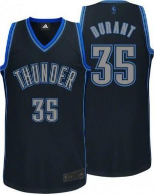 Camiseta NBA Graystone Fashion Oklahoma City Thunder Negro Authentic - Hombre - #35 Kevin Durant