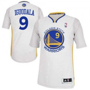 Camisetas Baloncesto Hombre NBA Golden State Warriors Alternate Authentic Andre Iguodala #9 Blanco