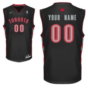 Toronto Raptors Adidas Alternate Negro Camiseta de la NBA - Swingman Personalizadas - Hombre