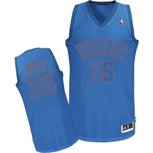 Camiseta NBA Authentic Kevin Durant #35 Big Color Fashion Azul - Oklahoma City Thunder - Hombre