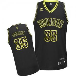 Camiseta NBA Oklahoma City Thunder Kevin Durant #35 Electricity Fashion Adidas Negro Swingman - Hombre