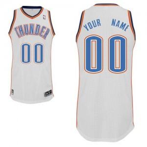 Oklahoma City Thunder Adidas Home Blanco Camiseta de la NBA - Authentic Personalizadas - Hombre