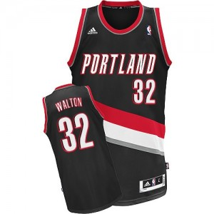 Camisetas Baloncesto Hombre NBA Portland Trail Blazers Road Swingman Bill Walton #32 Negro
