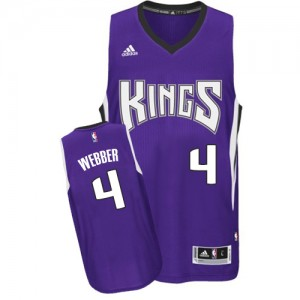 Sacramento Kings Adidas Road Púrpura Swingman Camiseta de la NBA - Chris Webber #4 - Hombre