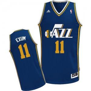 Camiseta NBA Utah Jazz Dante Exum #11 Road Adidas Azul marino Swingman - Hombre