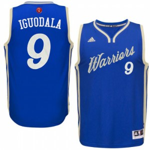 Camisetas Baloncesto Hombre NBA Golden State Warriors 2015-16 Christmas Day Authentic Andre Iguodala #9 Azul real