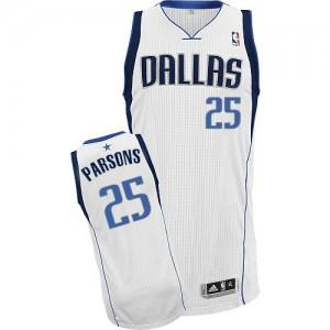 Dallas Mavericks Adidas Home Blanco Authentic Camiseta de la NBA - Chandler Parsons #25 - Hombre