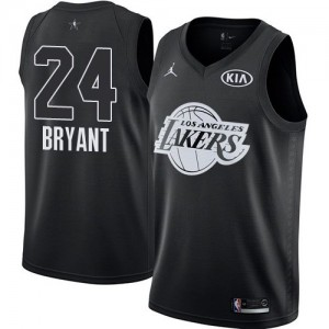 Camiseta Jordan 2018 All-Star Game Los Angeles Lakers Negro Swingman - Niño - #24 Kobe Bryant