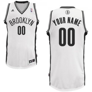 Camiseta NBA Home Brooklyn Nets Blanco - Adolescentes - Personalizadas Swingman