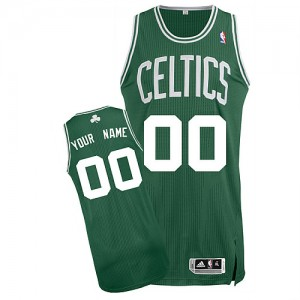 Camiseta NBA Boston Celtics Authentic Personalizadas Road Adidas Verde (Blanco No.) - Adolescentes