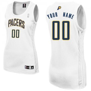 Camiseta NBA Home Indiana Pacers Blanco - Mujer - Personalizadas Authentic
