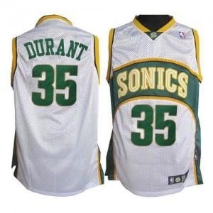 Camiseta NBA Oklahoma City Thunder Kevin Durant #35 SuperSonics Adidas Blanco Authentic - Hombre