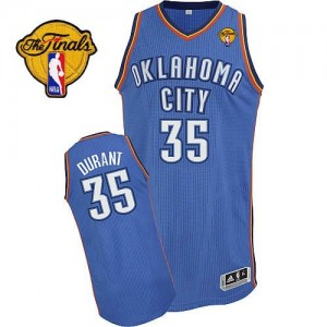 Oklahoma City Thunder Adidas Road Finals Patch Azul real Authentic Camiseta de la NBA - Kevin Durant #35 - Adolescentes