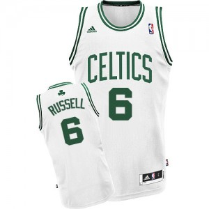 Camiseta Swingman Bill Russell #6 Boston Celtics Home Blanco - Hombre