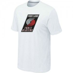 T-Shirts NBA Portland Trail Blazers Big & Tall Blanco - Hombre