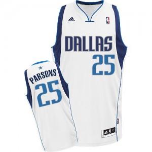 Dallas Mavericks Adidas Home Blanco Swingman Camiseta de la NBA - Chandler Parsons #25 - Hombre