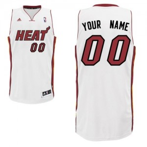 Camiseta Swingman Personalizadas Miami Heat Home Blanco - Adolescentes