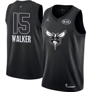Camiseta Jordan 2018 All-Star Game Swingman Kemba Walker #15 Charlotte Hornets Negro